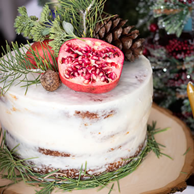 Dec 8th : Christmas Pomegranate Cake