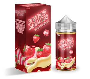 Custard Monster - Strawberry Custard - 100mls