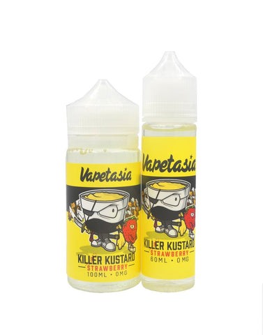 Killer Kustard Strawberry (60mls / 100mls Ready to Vape) | MorningtonVapes