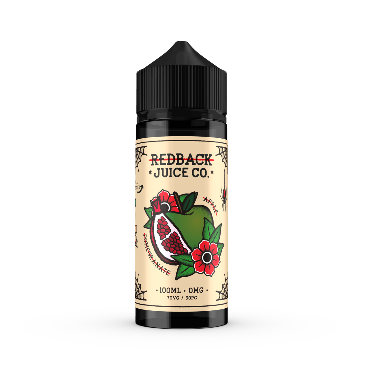 Redback Juice Co. - Apple & Pomegranate - 100mls