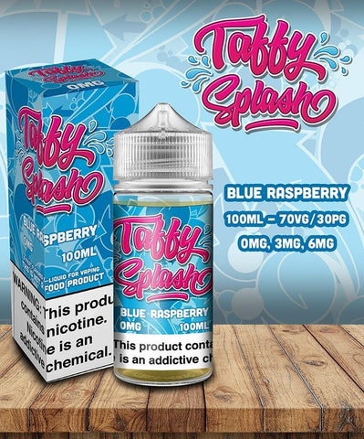 Blue Raspberry Taffy Splash 100ml | MorningtonVapes