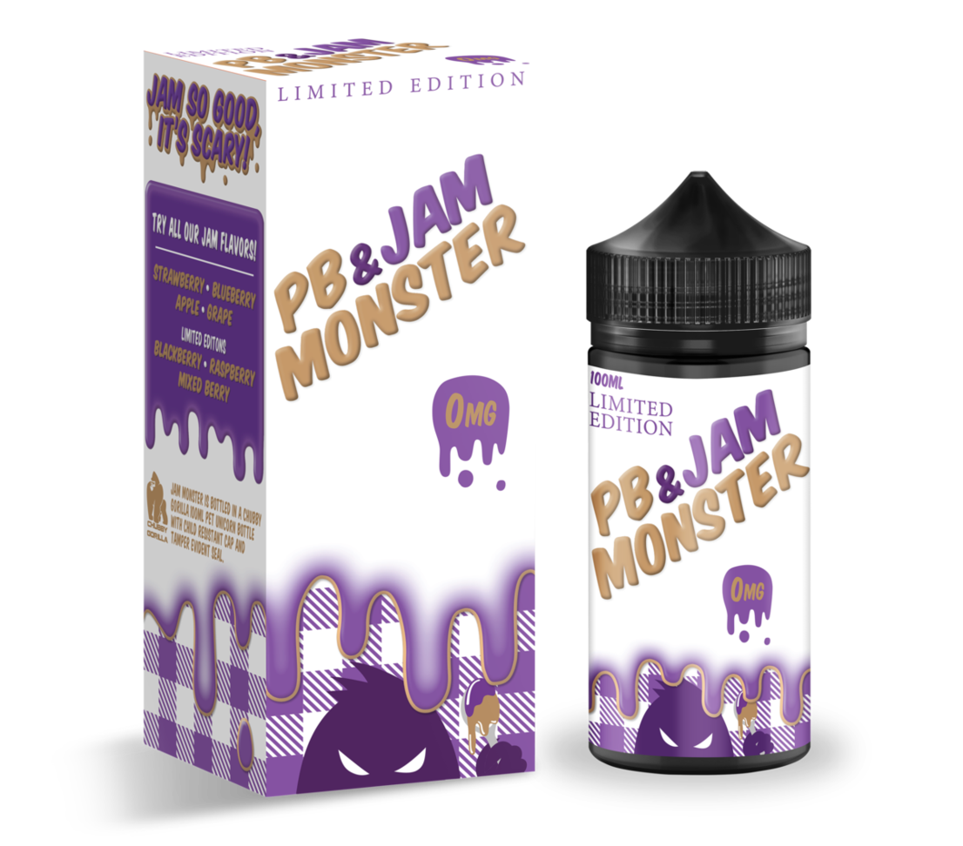 Jam Monster - Peanut Butter & Grape Jam - 100mls | MorningtonVapes