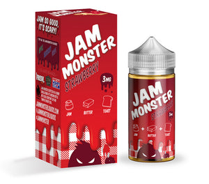 Jam Monster - Strawberry - 100mls | MorningtonVapes