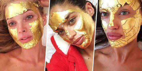 Peel off gold mask