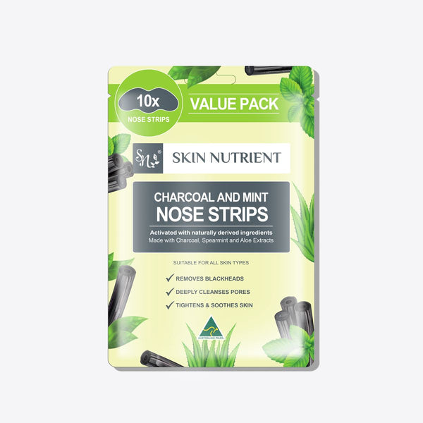 Skin Nutrient Charcoal and Mint Nose Strips 10 Pieces Skin Nutrient