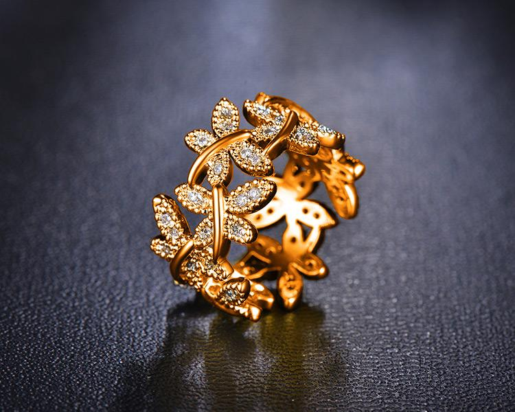 10 Butterflies Gold-Plated Ring - Rebel Heat