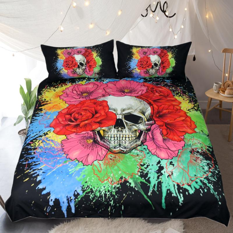 Art Skull Bedding Set - Rebel Heat