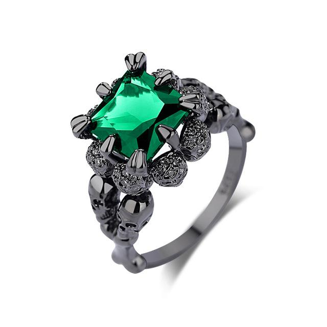 Dark Princess Skull Ring - Rebel Heat