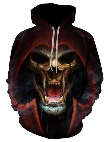 Demon Skull Hoodie - Rebel Heat