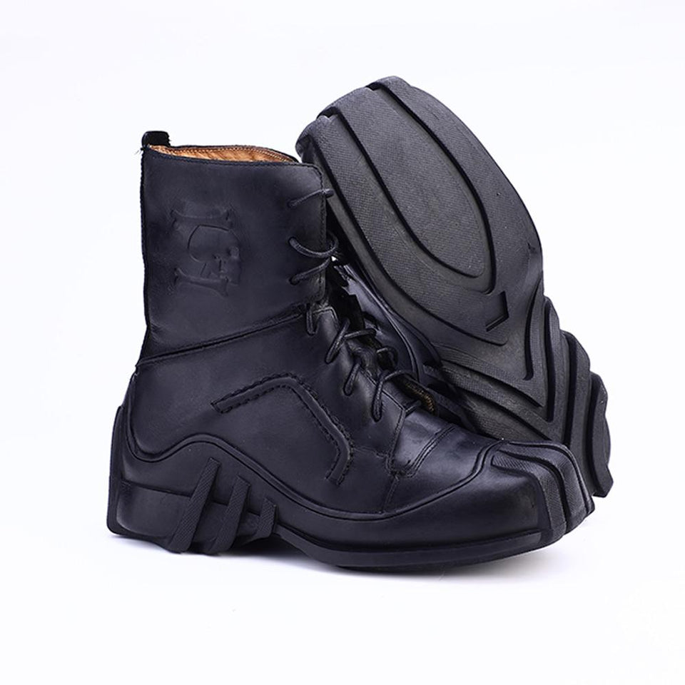 Handmade genuine cowhide Biker Boots - Rebel Heat