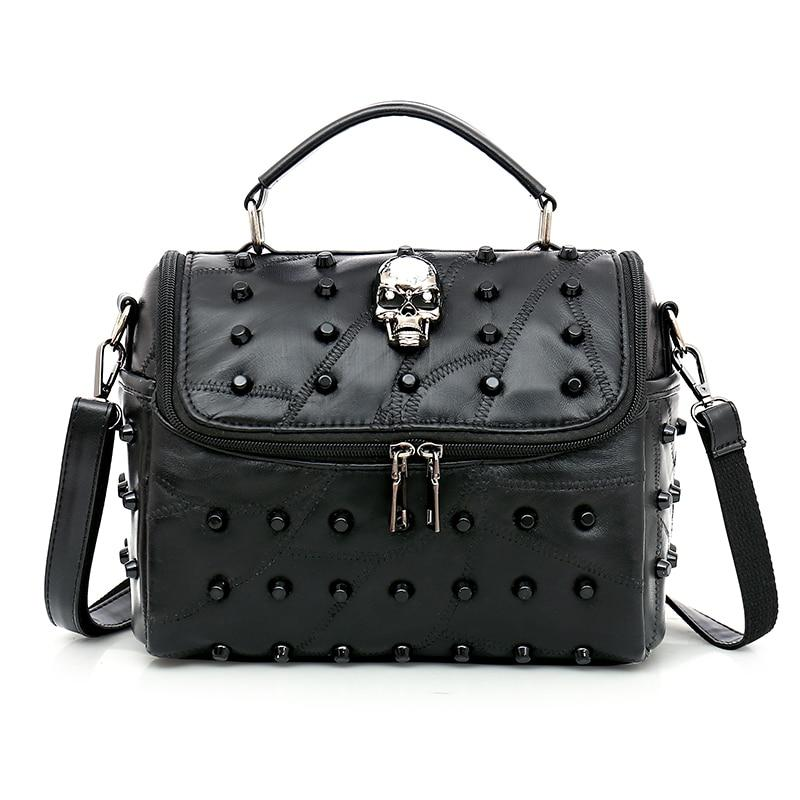 Leather Skull Handbag - Rebel Heat