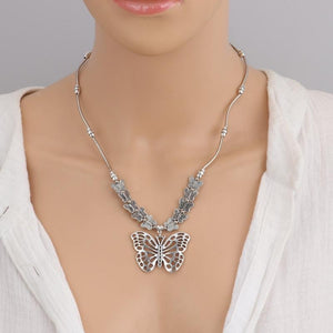 'LIVE FREE' Butterfly Necklace - Rebel Heat