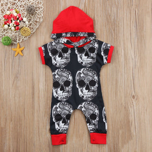 One-Piece Skull Romper Baby Outfit - Rebel Heat