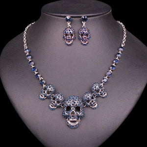Retro Skull Jewelry Set - Rebel Heat