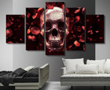 Rose Skull Canvas Print - Rebel Heat
