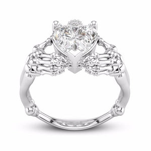 Skeleton Heart Ring - Rebel Heat