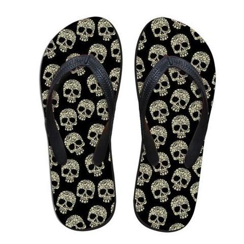 Skull Flip Flops - Rebel Heat
