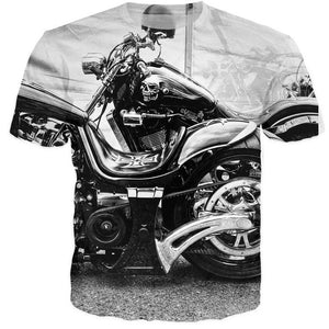 Motorcycle Skull T-shirt