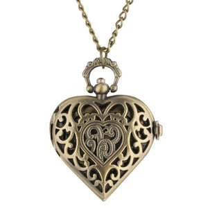 Vintage Love Heart Antique Pocket Watch - Rebel Heat