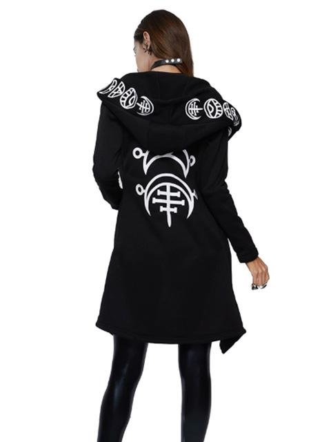 Wicked Gothic Loose Hoodie - Rebel Heat