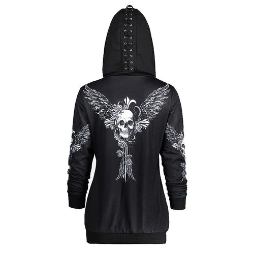 Wicked Skull Zip Hoodie - Rebel Heat