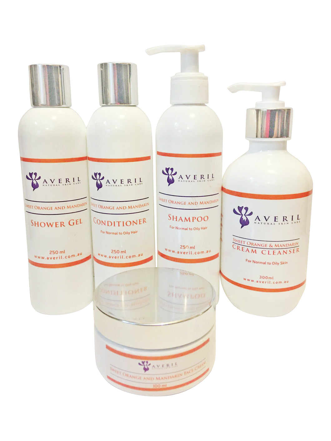 Averil Sweet Orange and Mandarin Range (Normal to Oily Skin and Hair)
