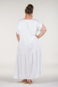 Radiance Dress in White Curve