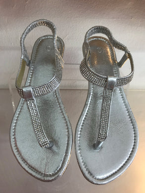 Silver Bling Sandals