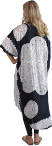 Long Black and white Sequinned Cape.