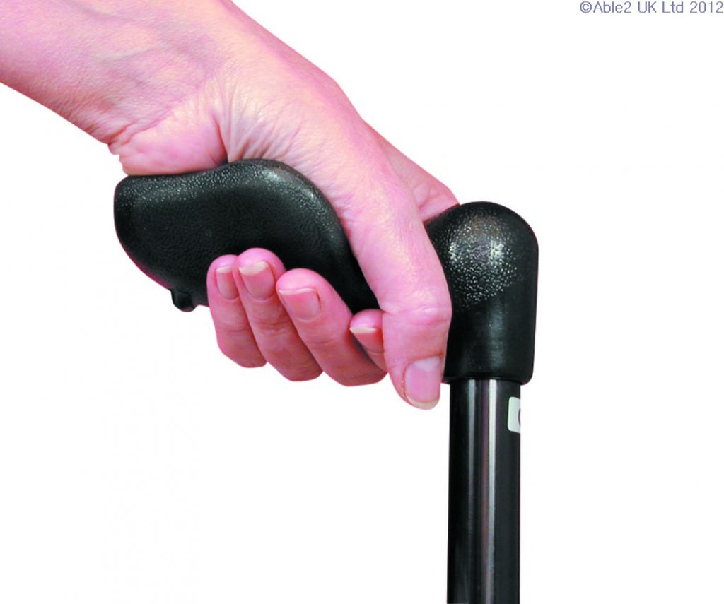 Arthritis Grip Cane Adjustable - Black, Right Handed
