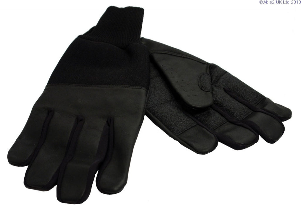 Revara Sports Leather Winter Glove Black