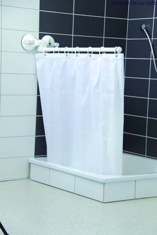 Mobeli Shower or Bath Curtain Screen - with curtain