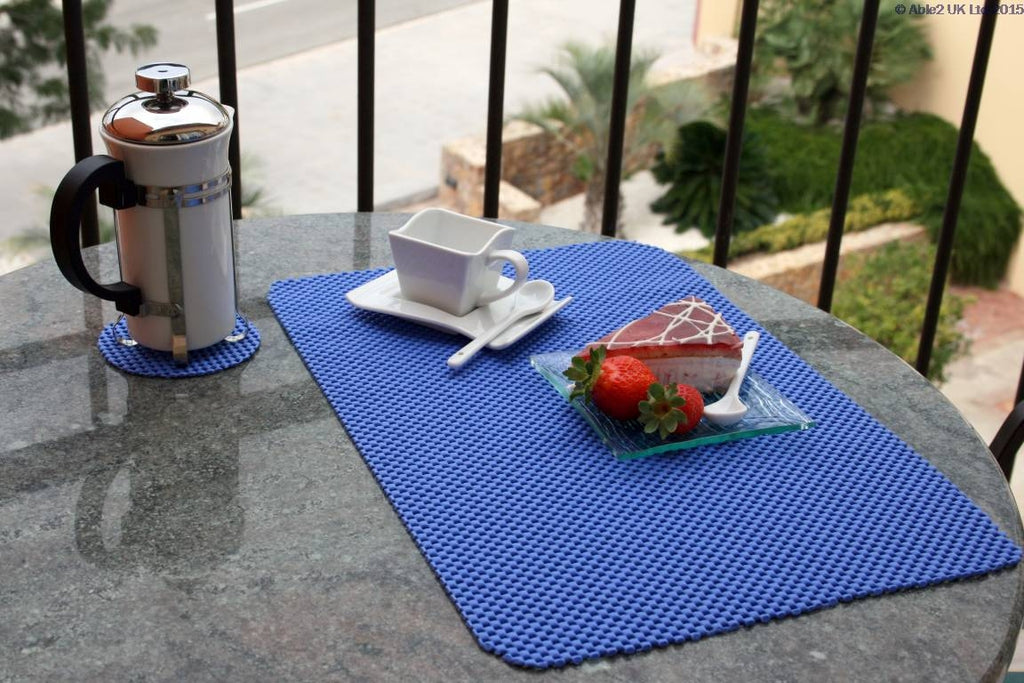 StayPut Non-Slip Tablemat (x4) and Coaster (x4) Set - Taupe