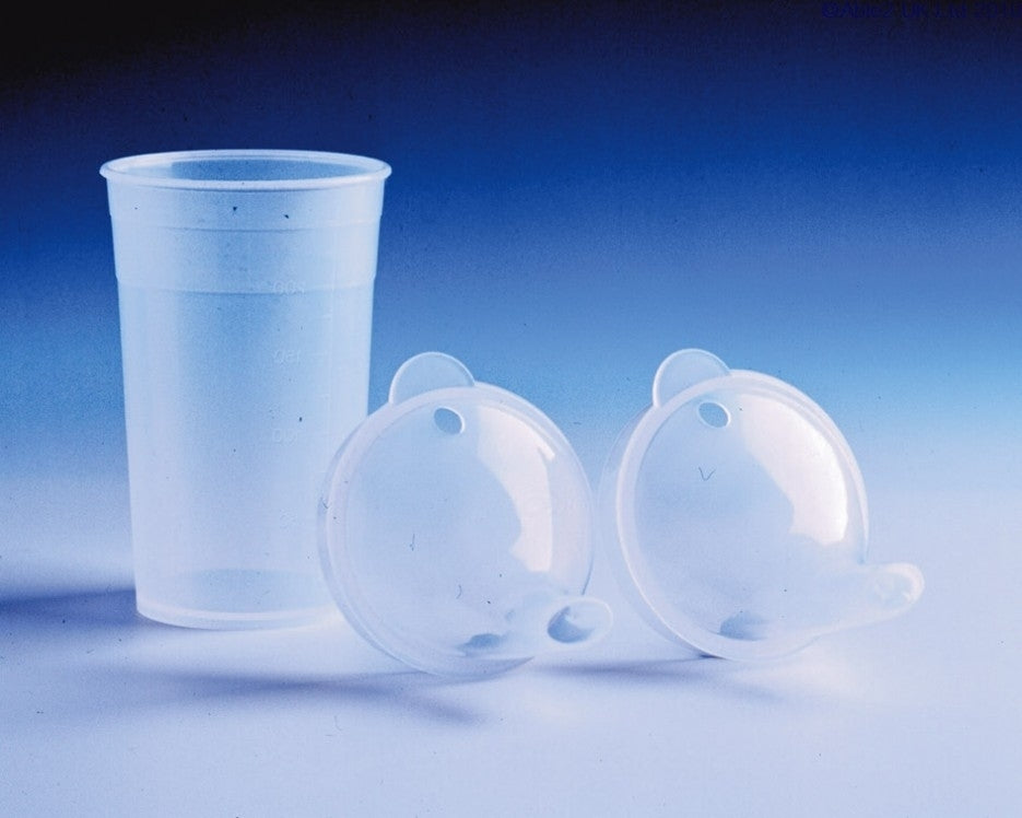 Drinking Cup clear with two lids - Clear