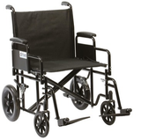 Bariatric Steel Transport Wheelchair