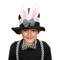 Bunny Ears Checkered Hat, Bow Tie & Braces