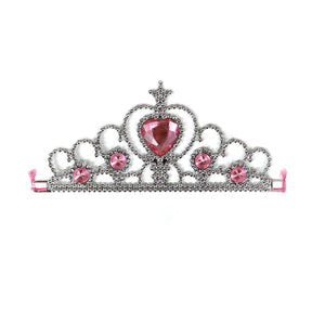 Silver Princess Pink Jewel Tiara