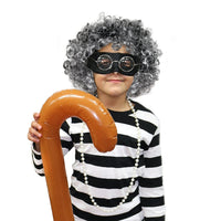 Gangster Granny Set (Eye Mask, Beads, Wig, glasses & Stick)
