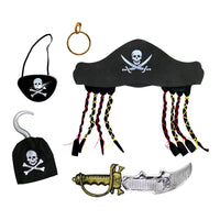 Pirate Costume (Hat, Sword, Patch Hook + Earring)