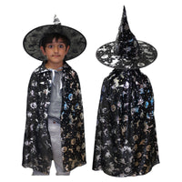 Black Wizard Halloween Fancy Dress Costume