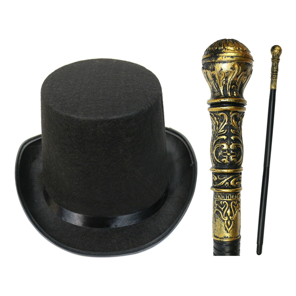 Victorian Top Hat & Cane