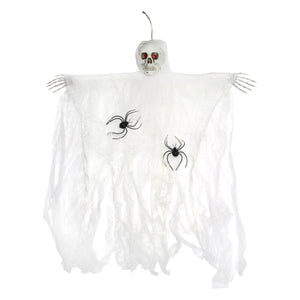 Large Skeleton Wall Hanger with Spiders