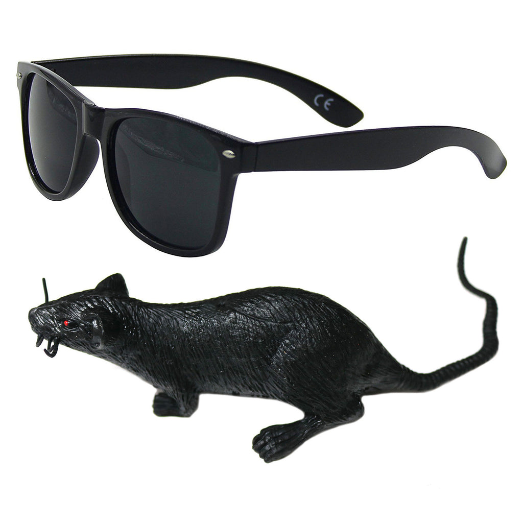 Rat Burger Set (Sunglasses & Rubber Rat)