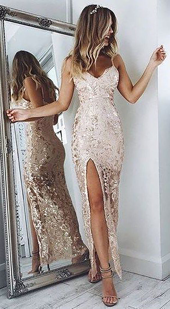 Cute Sparkly Sequin Long Prom Dresses Outfit Ideas for Graduation for Teens - vestido de fiesta de graduación - www.GlamantiBeauty.com