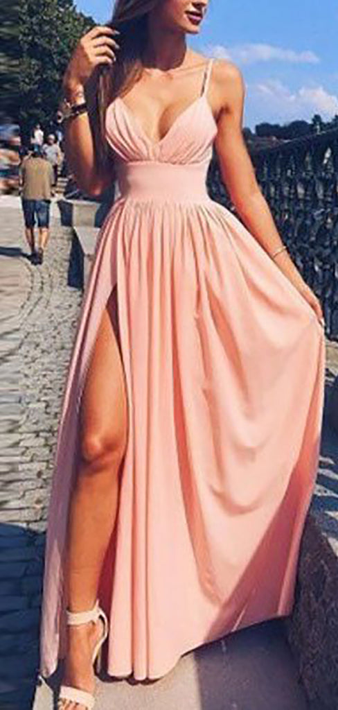 Cute Pink Long Prom Dresses Outfit Ideas for Graduation for Teens - vestido de fiesta de graduación - www.GlamantiBeauty.com