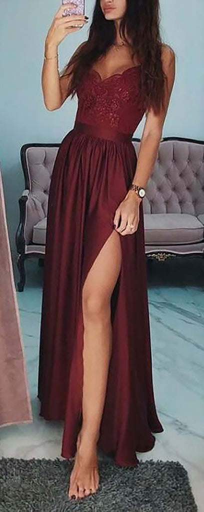 Cute Red Off the Shoulder Long Prom Dresses Outfit Ideas for Graduation for Teens - vestido de fiesta de graduación - www.GlamantiBeauty.com