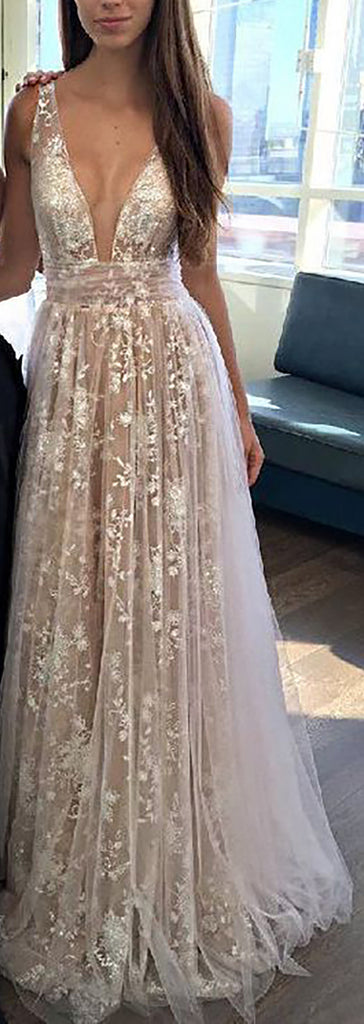 Cute Chiffon Lace Long Prom Dresses Outfit Ideas for Graduation for Teens - vestido de fiesta de graduación - www.GlamantiBeauty.com
