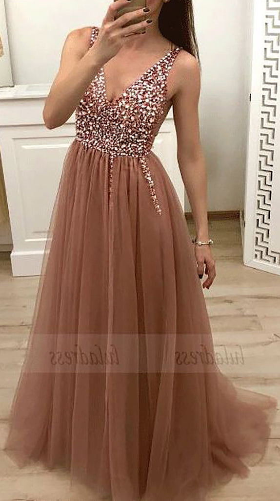 Sparkly Sequin Long Mauve Prom Dresses Outfit Ideas for Graduation for Teens - vestido de fiesta de graduación - www.GlamantiBeauty.com