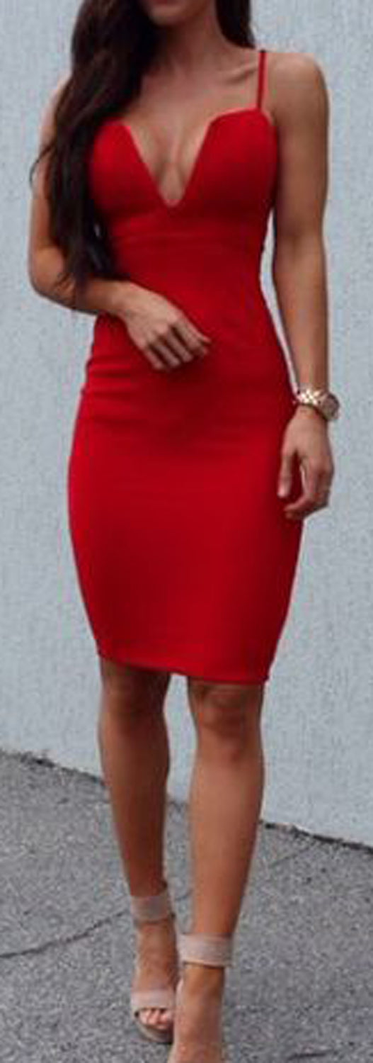 2018 Party Evening Clubbing Outfit Ideas for Women - Red Aline Mini Dress - día de san valentín Outfit Ideas para mujeres - www.GlamantiBeauty.com