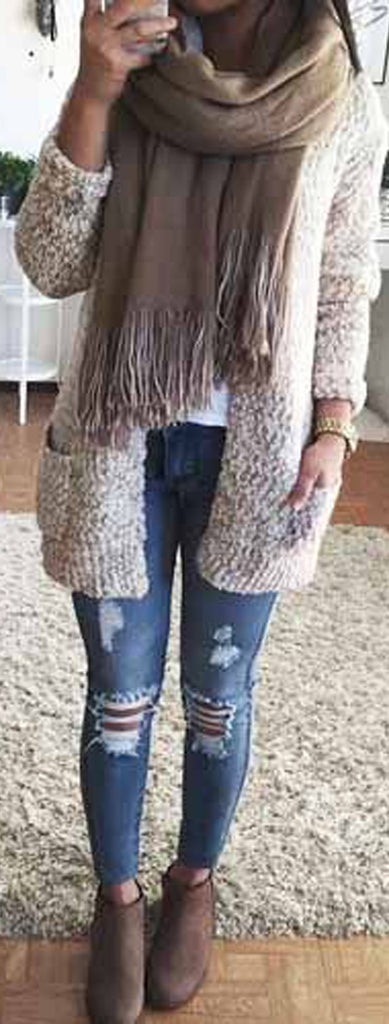 Cute Casual Fall Back to School Outfits Ideas for Teens for College 2018 Casual Fashion -ideas para el regreso a la escuela - www.GlamantiBeauty.com #outfits